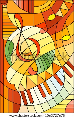 abstract image of a treble clef
