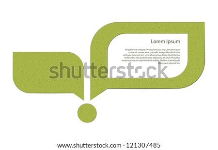Abstract image of a young sprout and a speech bubble with a placeholder. EPS10 vector.