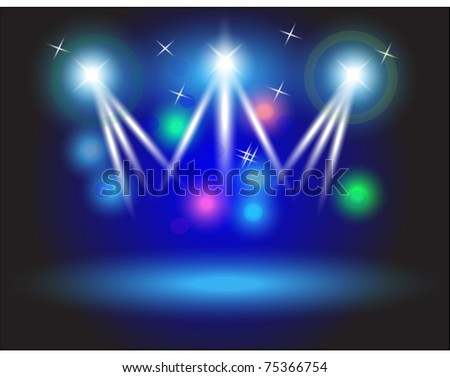 Abstract image of concert lighting against a dark background, 10eps