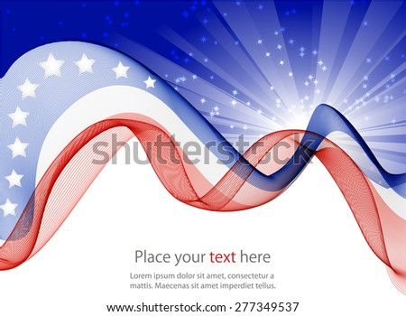 Abstract image of the American flag - Shutterstock ID 277349537