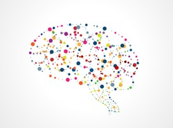 Abstract image of the brain of molecules. Eps 10