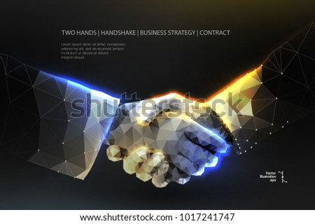 abstract image two hands