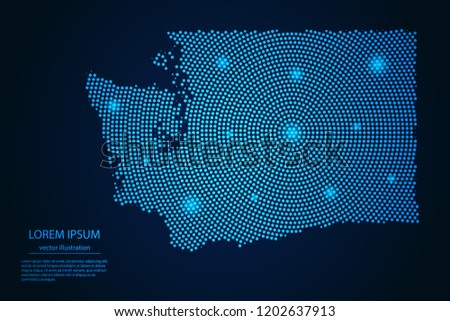 stock-vector-abstract-image-washington-map-from-point-blue-and-glowing-stars-on-a-dark-background-vector