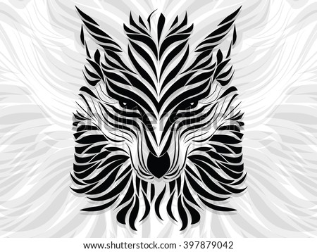 abstract in the form of a wolf