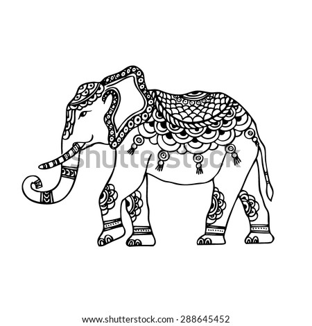 Abstract Indian elephant