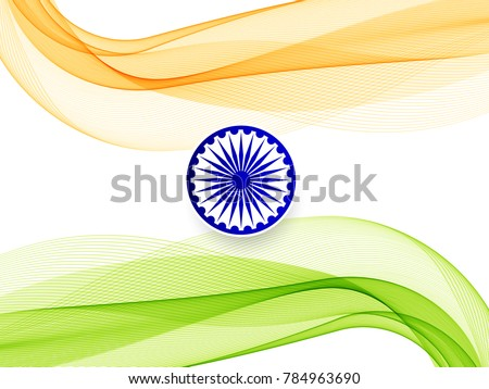 Abstract Indian Flag Theme Design Background Download Free Vector