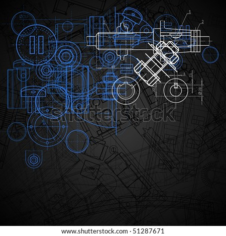 Abstract industrial background, vector illustration. - stock vector