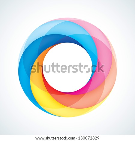 Abstract Infinite loop logo template. Corporate icon. 5 Pieces Shape. EPS10