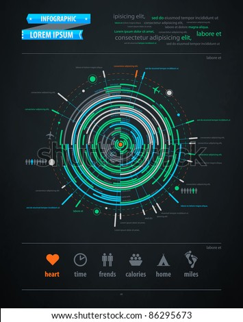 abstract infographics element on transportation topics