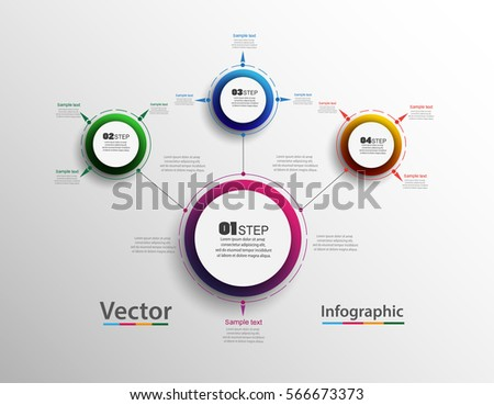 Abstract infographics number options template. Can be used for workflow layout, diagram, business step options, banner, web design. Vector eps 10