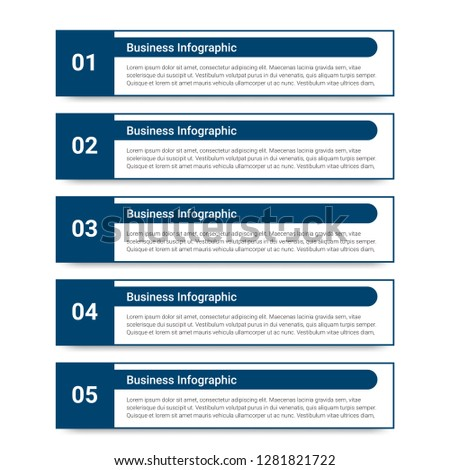 Abstract infographics number options template. Vector illustration.  Business data visualization. Process chart. Abstract elements of graph, diagram with steps, options, parts or processes. Vector