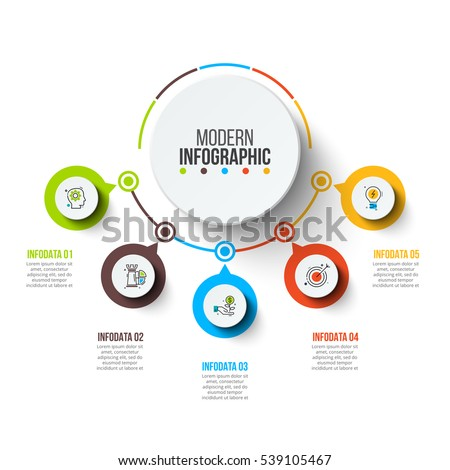 abstract infographics number