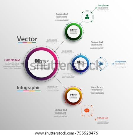 Abstract infographics number options template with  steps. Can be used for workflow layout, diagram, business step options, banner, web design. Vector eps 10