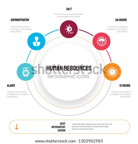 abstract infographics of human