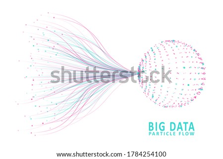 Abstract infographics visualization. Big data code representation. Futuristic network or business analytics. Graphic concept for your design Stock photo ©