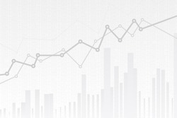 Abstract infographics visualization. Business chart graph with three lines of increase. Futuristic network or business analytics. Graphic concept for your design