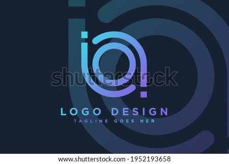 abstract initial letter ba logo design vector illustration.letter ba business and technology logos template design element Zdjęcia stock ©
