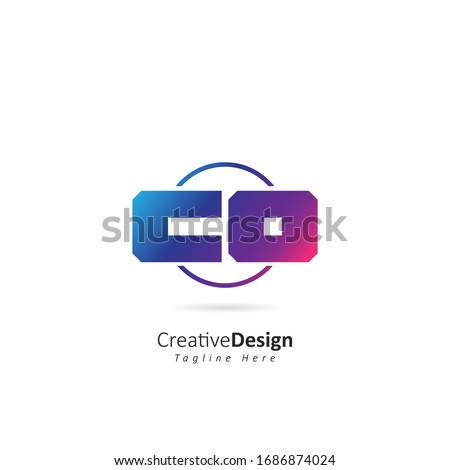 Abstract Initial Letter C O Logo with Circle. Design Vector Template for Company Icon Foto stock ©