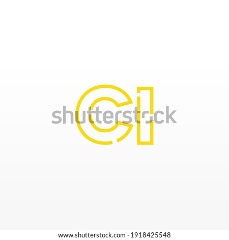 Abstract Initial Letter CI Logo. Line Style isolated. Usable for Business and Technology Logos. Flat Vector Logo Design Template Element. Stock fotó ©