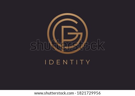 Abstract initial letter G and P logo,usable for branding and business logos, Flat Logo Design Template, vector illustration Stock fotó ©