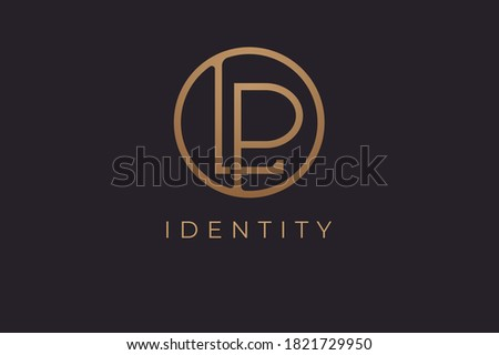 Abstract initial letter L and P logo,usable for branding and business logos, Flat Logo Design Template, vector illustration Stock fotó ©
