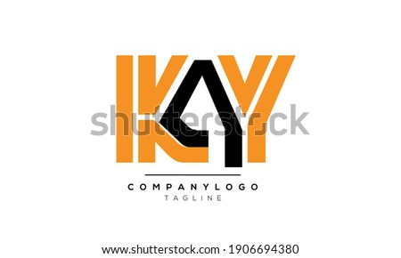 Abstract Initial Letters KAY Vector Logo Design Template Stok fotoğraf ©