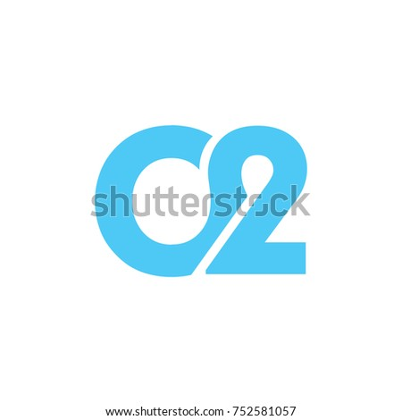 abstract initial 02 logo