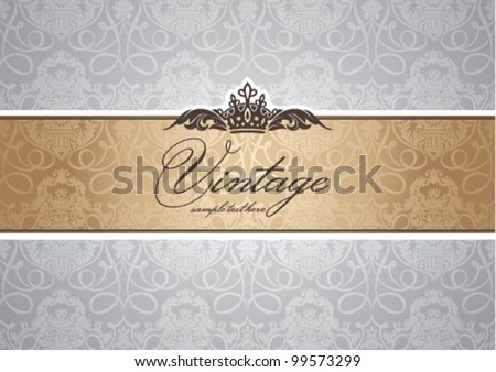 abstract invitation frame vector illustration