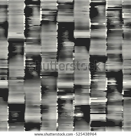 Abstract irregular striped block motif. Seamless pattern.