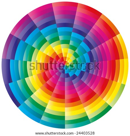 stock vector : Abstract isolated colorful spiral ornament