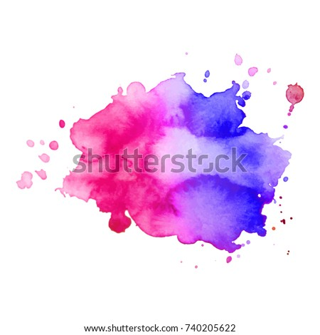 abstract isolated watercolor