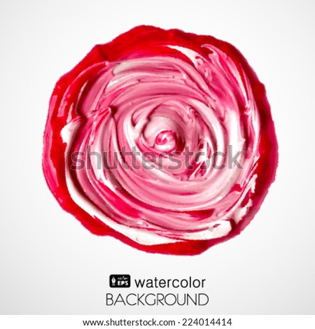 Abstract isolated watercolor red spot
