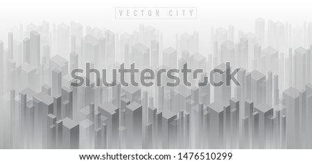 abstract isometric 3d crowded