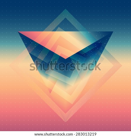 abstract isometric prism with