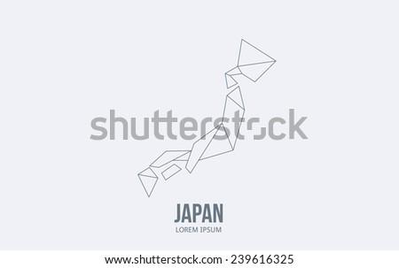 Abstract Japan logo. Vector logotype design.