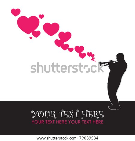 Abstract jazzman vector illustration. Place for your text.