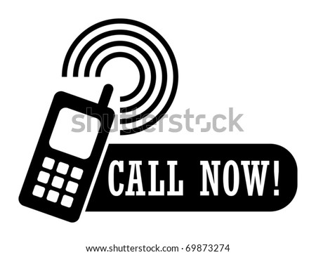 abstract label with the phone and the words call now vector illustration 69873274 shutterstock. Black Bedroom Furniture Sets. Home Design Ideas