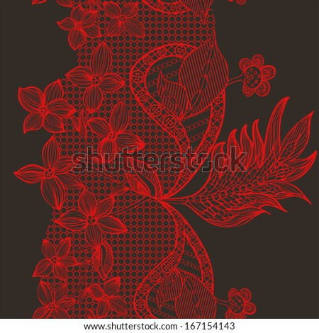 Abstract lace flower pattern