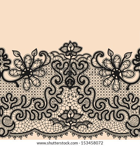 Vector Images, Illustrations and Cliparts: Abstract Lace Ribbon ...