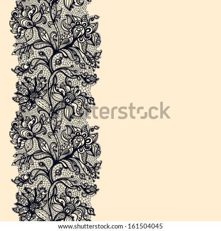 abstract lace ribbon seamless