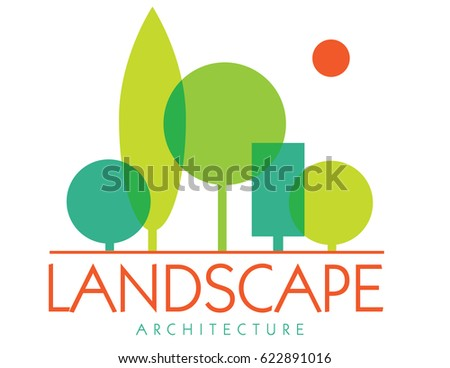 abstract landscape design logo