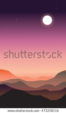 abstract landscape of a dawn