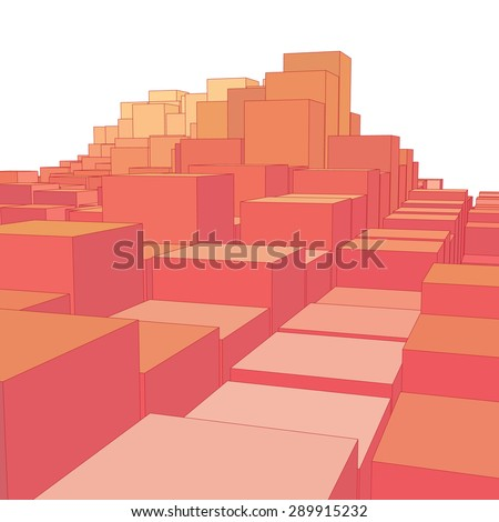 abstract landscape with colored