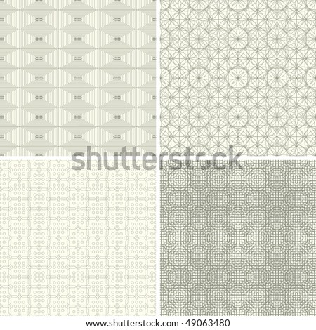 abstract lattice patterns in set