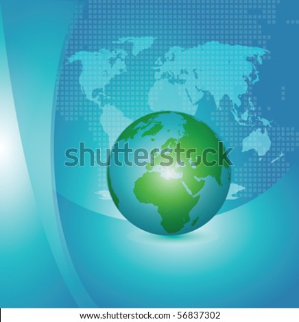 earth globe clip art. Layer with earth globe and