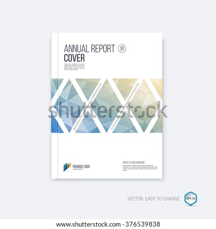 abstract layout brochure  cover
