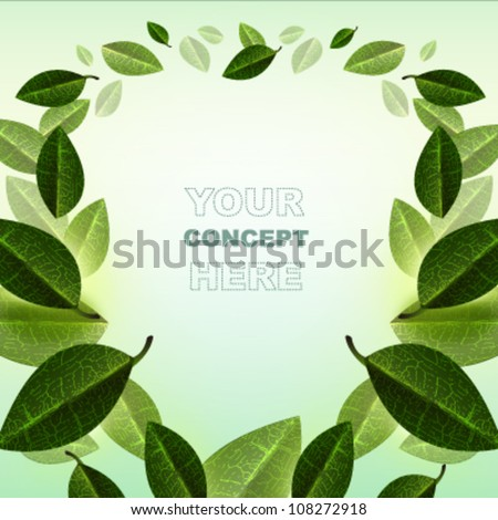 abstract leaf background.Vector design.ecology concept.