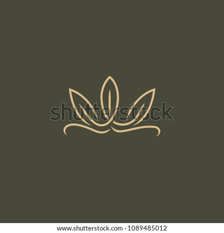 Abstract leaf logo icon vector design. Landscape design, garden, Plant, nature and ecology vector logo. Ecology Happy life Logotype concept icon. Vector illustration, Graphic Design.