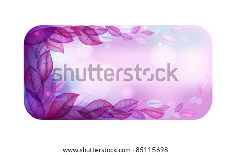 Abstract leafs vector background
