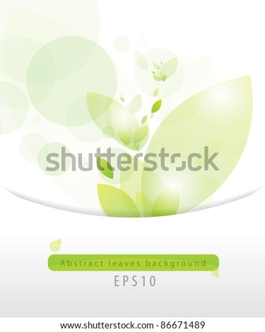 Abstract leaves background eps 10